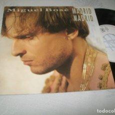 Discos de vinilo: MIGUEL BOSE - MADRID MADRID Y MANOS VACIAS (CON RAFA LA UNION) ED FRANCIA DE 1991 - INEDITO. Lote 204996521