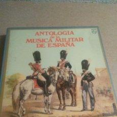 Discos de vinilo: ANTOLOGÍA MÚSICA MILITAR DE ESPAÑA. Lote 205008660