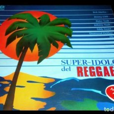 Discos de vinilo: V892 - SUPER IDOLOS DEL REGGAE. BOB MARLEY. JIMMY CLIFF... LP VINILO. Lote 205028805