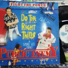Discos de vinilo: PÚBLIC ENEMY MAXI FIGHT THE POWER ESPAÑA 1989. Lote 205030550