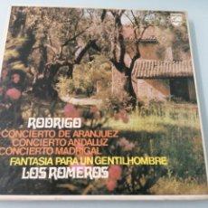 Discos de vinilo: JOAQUIN RODRIGO. LOS ROMERO. PHILIPS. 1977. 2 LPS.. Lote 205031542