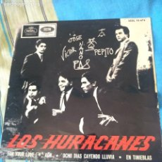 Disques de vinyle: LOS HURACANES FOR YOUR LOVE SINGLE LETRAS ROJAS. Lote 205032432