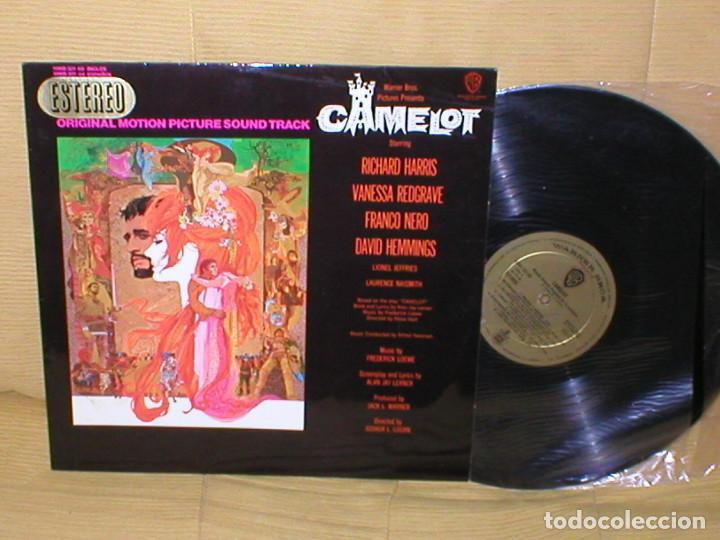 CAMELOT SPAIN LP ORIGINAL 1967 ALFRED NEWMAN VANESSA REDGRAVE RICHARD HARRIS BANDA SONORA BUEN ESTAD (Música - Discos - LP Vinilo - Bandas Sonoras y Música de Actores )