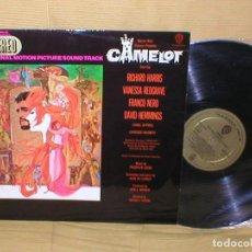 Discos de vinilo: CAMELOT SPAIN LP ORIGINAL 1967 ALFRED NEWMAN VANESSA REDGRAVE RICHARD HARRIS BANDA SONORA ORIG. BSO. Lote 205046565