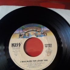 Discos de vinilo: KISS SINGLE VINILO I WAS MADE FOR LOVIN' YOU/HARD TIMES. EDICIÓN USA 1979. PLANT 72 CASABLANCA. Lote 205046665