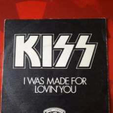 Discos de vinilo: KISS SINGLE VINILO I WAS MADE FOR LOVIN' YOU / HARD TIMES. ESPAÑA 1979. CASABLANCA. Lote 205050602