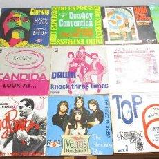 Discos de vinilo: 15 SINGLE VINILO,NORMAN GREENBAUM,TAKATA FAMILY,LITTLE KIDS,CHRISTIE,DANA,SHOCKING BLUE,DAWN,GIORGIO. Lote 59605139