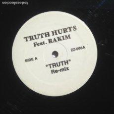 Discos de vinilo: TRUTH HURTS FEAT RAKIM - TRUTH / CLIPSE FEAT JADAKISS , STYLES & ROSCOE P. COLO CHAIN. Lote 205076662