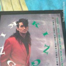 Discos de vinilo: KING -WON´T YOU HOLD MY HAND NOW-SINGLE FIRMADO POR LA BANDA. Lote 205096760