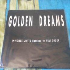 Discos de vinilo: INVISIBLE LIMITS (NEW ORDER REMIX) GOLDEN DREAMS SINGLE RARO. Lote 205097385