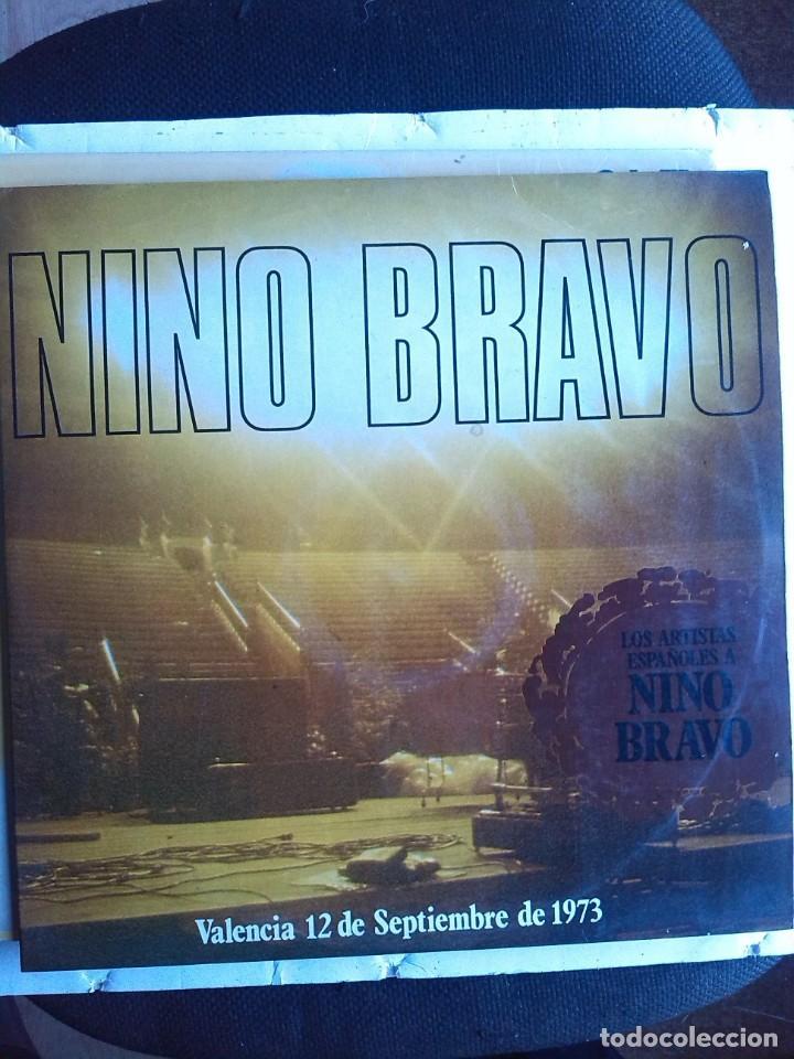 LOS ARTISTAS ESPAÑOLES CANTAN A NINO BRAVO VALENCIA 12 DE SEPTIEMBRE 1973 VVAA 2 LPS (Música - Discos - LP Vinilo - Solistas Españoles de los 70 a la actualidad)