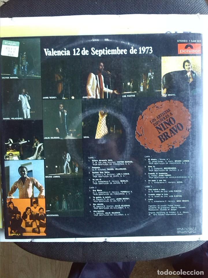 Discos de vinilo: LOS ARTISTAS ESPAÑOLES CANTAN A NINO BRAVO VALENCIA 12 DE SEPTIEMBRE 1973 VVAA 2 LPS - Foto 3 - 205107406