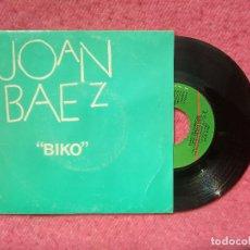 Discos de vinilo: SINGLE JOAN BAEZ - BIKO - VIRGIN A-BAEZ1 - SPAIN PRESS PROMO (EX-/NM). Lote 205120106