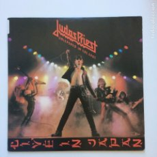 Discos de vinilo: JUDAS PRIEST – UNLEASHED IN THE EAST (LIVE IN JAPAN) USA COLUMBIA. Lote 205129170