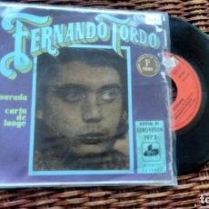 Discos de vinilo: SINGLE ( VINILO) DE FERNANDO TORDO AÑOS 70 ( EUROVISION PORTUGAL). Lote 205130505