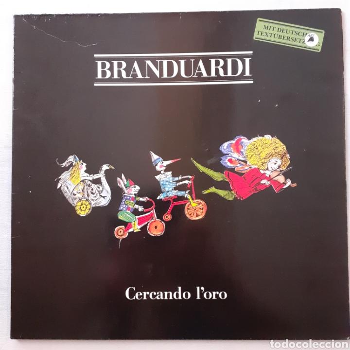 ANGELO BRANDUARDI. CERCANDO L'ORO. MUSICA 205 625. GERMANY 1983. (Música - Discos - LP Vinilo - Canción Francesa e Italiana)
