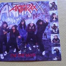 "Discos de vinilo: ANTHRAX -I'M THE MAN- (1987) MAXI-SINGLE 12"". Lote 205135717"