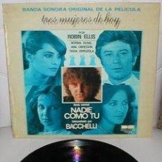 Discos de vinilo: TRES MUJERES DE HOY SPAIN LP 1980 STELVIO CIPRIANI ANA OBREGON NORMA DUVAL TAIDA URRUZOLA BSO MIRA !. Lote 205173142
