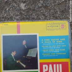 Discos de vinilo: PAUL ANKA. A STEEL GUITARRA AND A GLASS OF WINE. EP 1962. BUEN ESTADO. Lote 205175470