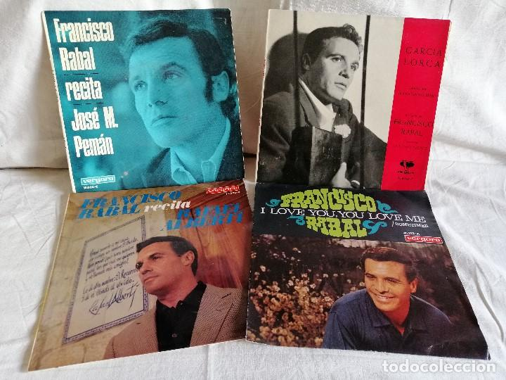 FRANCISCO RABAL LOTE 4 EPS. AÑOS 60 MUY BUEN ESTADO EN OFERTA VER MAS INFORMACION (Música - Discos de Vinilo - EPs - Bandas Sonoras y Actores)