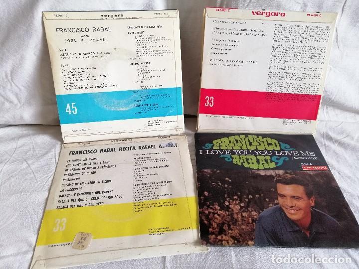 Discos de vinilo: Francisco rabal lote 4 eps. años 60 muy buen estado en oferta ver mas informacion - Foto 2 - 205175861