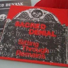 Discos de vinilo: SACRED DENIAL - SIFTING THROUGH REMAINS ... LP DE VINILO ROJO - RED VINYL - GERMANY - LP 1988. Lote 205180393