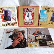 Disques de vinyle: GATO PEREZ LOTE 5 SINGLES AÑOS 70 EXCELENTE ESTADO EN OFERTA VER MAS INFORMACION. Lote 205180606