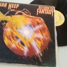 Discos de vinilo: URIAH HEEP - RETURN TO FANTASY ..LP DE BRONZE ..1ª EDICION ESPAÑOLA DE 1975 - PORTADA ABIERTA. Lote 205184231