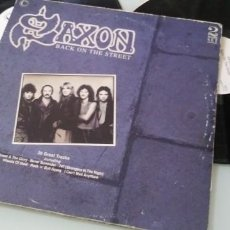 Discos de vinilo: SAXON - BACK ON THE STREET ..2LP´S - COLLECTION RECORDS CON 20 HITS DE 1989, MADE IN UK. Lote 205185330