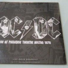 Discos de vinilo: AC/DC - LIVE AT PARADISE THEATRE BOSTON 1978 - NUEVO PRECINTADO - LIMITADO - LIVE RADIO BROADCAST. Lote 205185981