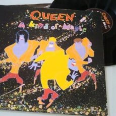Discos de vinilo: QUEEN - A KIND OF MAGIC ..LP DE PORTADA ABIERTA - 1ª EDICION 1985 - PATHE MARCONI .FRANCIA. Lote 205187535