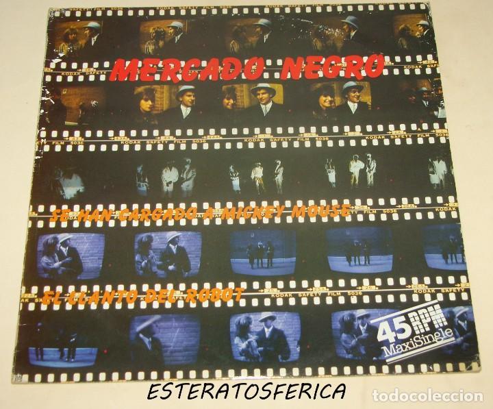 MERCADO NEGRO - SE HAN CARGADO A MICKEY MOUSE + 1 - PDI 1984 (Música - Discos de Vinilo - Maxi Singles - Grupos Españoles de los 70 y 80)