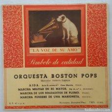 Discos de vinilo: EP / ORQUESTA BOSTON POPS / AIDA +3 / LA VOZ DE SU AMO. Lote 205197740