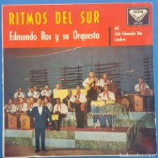 Discos de vinilo: EP / EDMUNDO ROS Y SU ORQUESTA / RITMOS DEL SUR / BAJO LOS PUENTES DE PARIS +3 / DECCA 1960. Lote 205199651