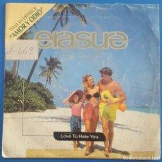 Discos de vinilo: SINGLE / ERASURE / AMOR Y ODIO - VITAMIN C / MUTE RECORDS 1991 PROMO. Lote 205200230