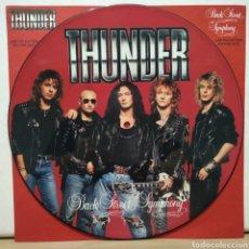 Discos de vinilo: THUNDER - BACK STREET SYMPHONY 1990 ED UK / PICTURE DISC. Lote 184695100