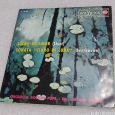 Discos de vinilo: ORQUESTA BOSTON POPS - SUEÑO DE AMOR / SONATA CLARO DE LUNA. Lote 205232512
