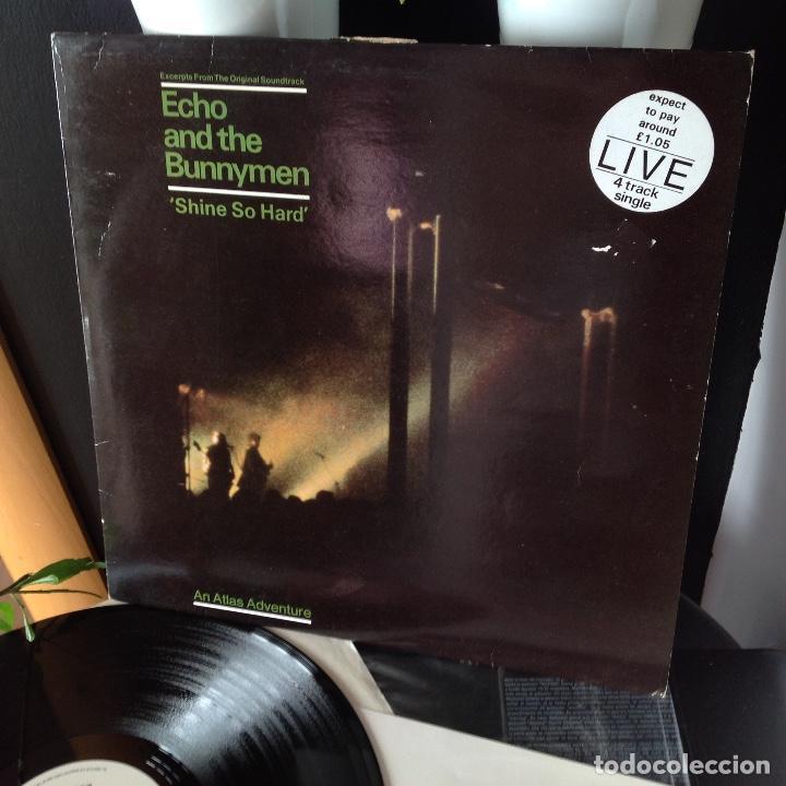 ECHO AND THE BUNNYMEN - LIVE - SHINE SO HARD - 4 TEMAS -1981 UK (Música - Discos de Vinilo - EPs - Pop - Rock - New Wave Extranjero de los 80)