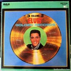 Discos de vinilo: ELVIS PRESLEY - ELVIS' GOLD RECORDS VOL.3- RCA LINEATRES ESPAÑA / 1986. Lote 196520922