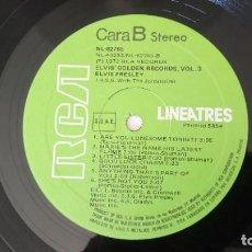 Discos de vinilo: ELVIS PRESLEY - ELVIS' GOLD RECORDS VOL.3- RCA LINEATRES ESPAÑA / 1986. Lote 196520961