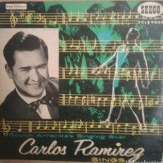 Discos de vinilo: CARLOS RAMÍREZ LP SELLO SEECO EDITADO EN U.S.A. Lote 205268306