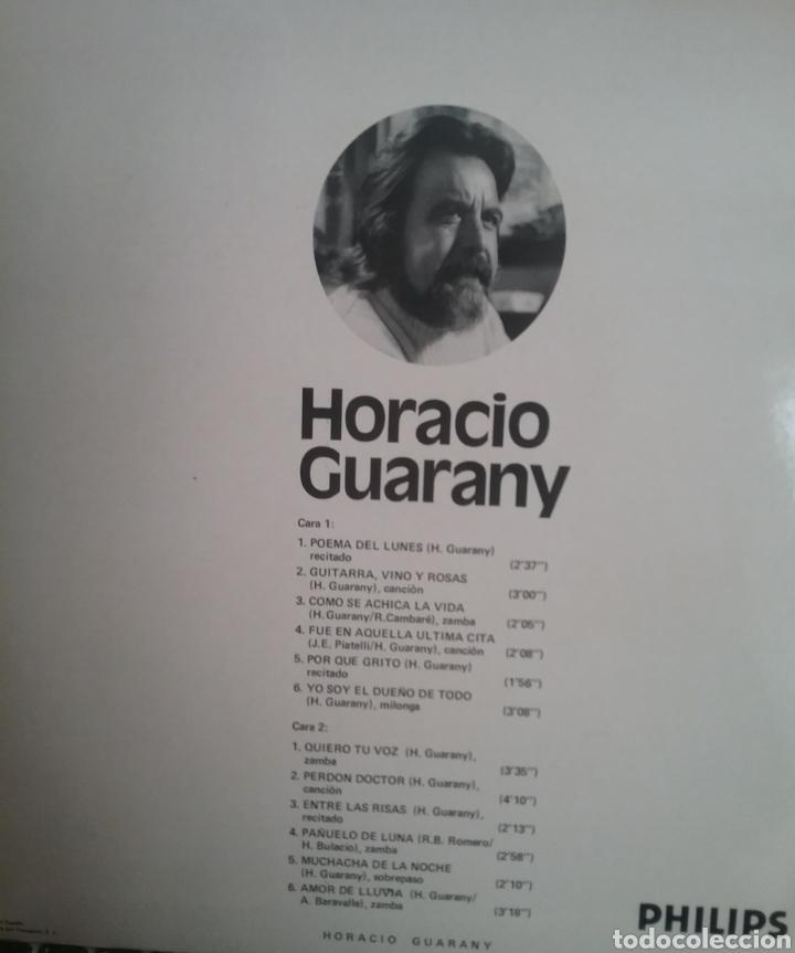Discos de vinilo: HORACIO CUARANY LP SELLO PHILIPS EDITADO EN ESPAÑA AÑO 1972 - Foto 2 - 205269347