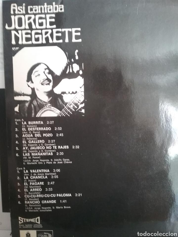 Discos de vinilo: JOGE NEGRETE LP SELLO EMI ODEON EDITADO EN ESPAÑA AÑO 1971 - Foto 2 - 205270015