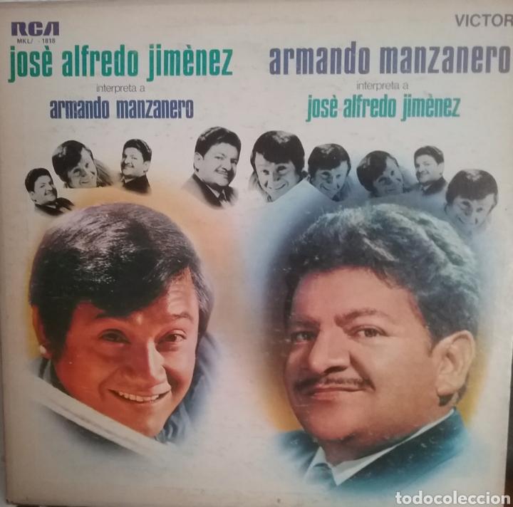 JOGE ALFREDO JIMENEZ, ARMANDO MANZANERO LP SELLO RCA VÍCTOR EDITADO EN PUERTO RICO (Música - Discos - LP Vinilo - Grupos y Solistas de latinoamérica)