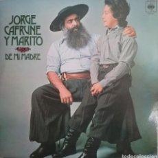 Discos de vinilo: JORGE CAER UNA YMARITO LP SELLO CBS EDITADO EN ESPAÑA AÑO 1973. Lote 205271217