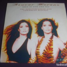 Disques de vinyle: AZUCAR MORENO MAXI SINGLE EPIC 1996 SOLO SE VIVE UNA VEZ (THE MEDITERRANEAN AND CARIBBEAN REMIXES). Lote 205279838
