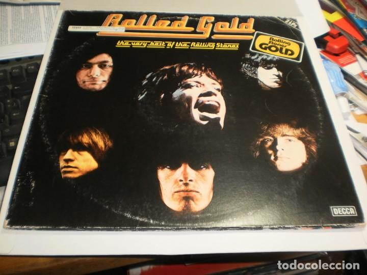 LP DOBLE ROLLED GOLD. THE VERY BEST OF THE ROLLING STONES DECCA 1975 GERMANY CARP DOBLE (SEMINUEVOS) (Música - Discos - LP Vinilo - Pop - Rock - Extranjero de los 70)