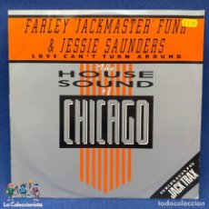 "Discos de vinilo: LP - VINILO DE FARLEY ""JACKMASTER"" FUNK & JESSE SAUNDERS ‎– LOVE CAN'T TURN AROUND - LONDON - 1986. Lote 205284040"