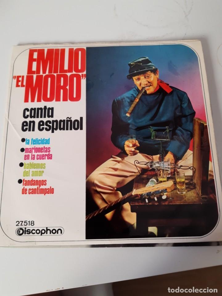 EP SINGLE * EMILIO EL MORO * CANTA EN ESPAÑOL (Música - Discos de Vinilo - EPs - Flamenco, Canción española y Cuplé)