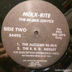 Discos de vinilo: MADONNA - MIXX-RITE - THE JUSTIFIED REMIX - MAXISINGLE - USA - VERSIONES LARGAS PARA DISCOTECAS. Lote 205290736